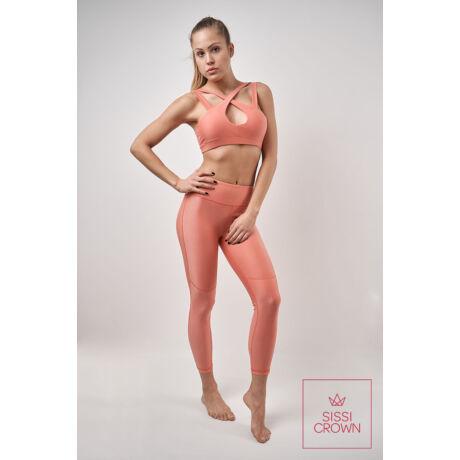 Sissi Crown Rose Gold Leggings szett